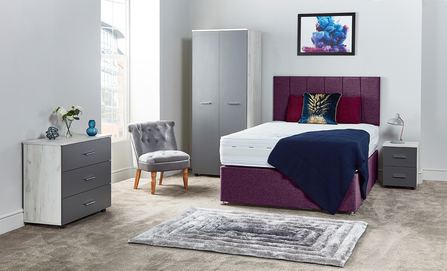 Cambourne Burgandy Bed